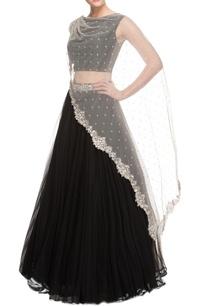 black-lehenga-set-with-embellished-cape