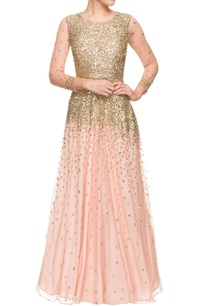 peach-sequined-gown
