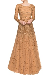 brown-sequined-gown