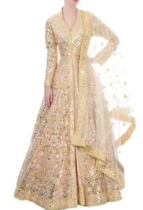 peach-mirror-work-anarkali-set