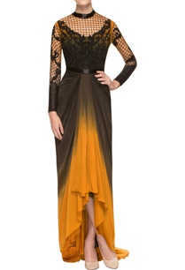 yellow-black-gown