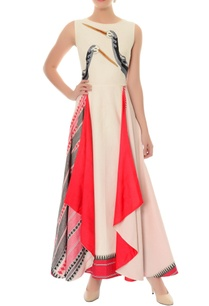 off-white-red-layered-dress