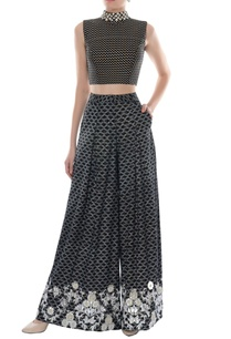 black-white-printed-crop-top-palazzo-pants