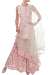 pink-white-kurta-set