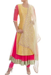 pink-and-yellow-kurta-set