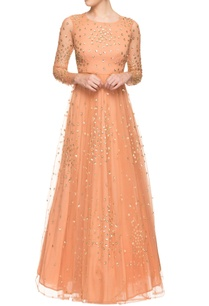 light-orange-sequined-gown