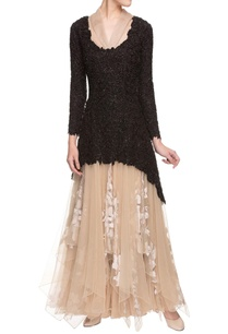cream-gown-with-black-embellished-overlay