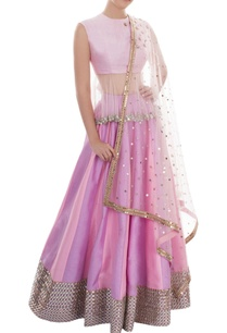puple-pink-mirror-work-lehenga-set
