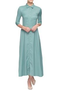 light-blue-pleated-dress