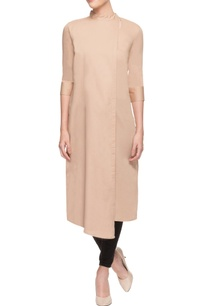 beige-closed-neck-kurti