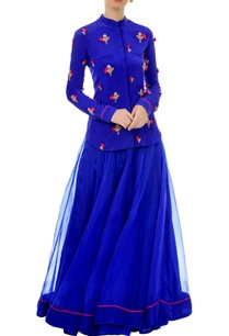 royal-blue-embroidered-shirt-skirt