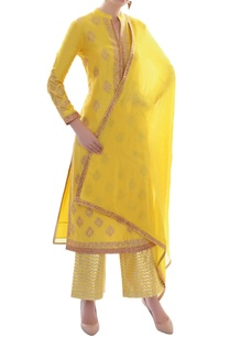 canary-yellow-embellished-kurta-set