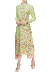 pistachio-green-kurta-pink-culottes