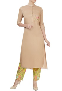 beige-kurta-with-embroidered-pants