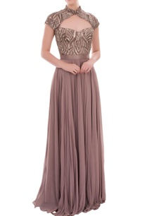 mauve-long-gown-with-cut-out-embellished-yoke
