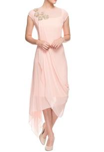 blush-pink-asymmetrical-dress
