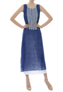 dark-blue-embellished-dress