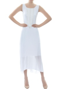 white-asymmetric-embellished-dress
