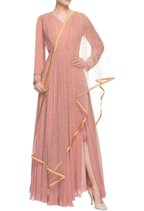 peachy-pink-anarkali-set