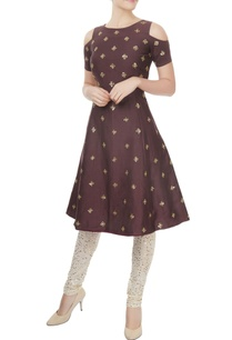 chocolate-brown-a-line-kurta-with-churidar