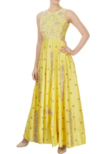 yellow-floor-length-gown-with-rose-motifs-sequin-details