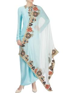 pastel-blue-embroidered-skirt-set