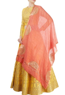 yellow-embellished-lehenga-set