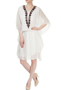 white-embellished-kaftan-dress