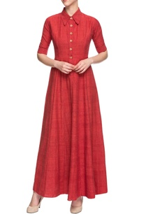 red-collared-maxi-dress