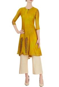 yellow-embroidered-kurti