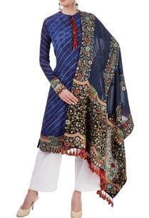 indigo-white-embroidered-kurta-set