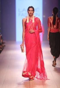 carnation-pink-brocade-sari