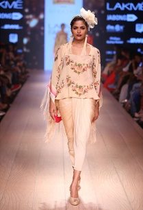 champagne-floral-camisole-with-kimono-sari-skirt