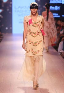 champagne-floral-tunic-with-organza-sharara