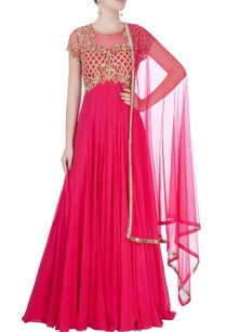 pink-anarkali-with-gold-work