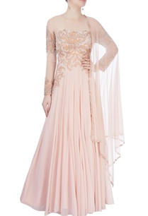 beige-sequin-embellished-anarkali