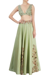 moss-green-embroidered-lehenga-set