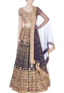 navy-blue-embroidered-lehenga-set