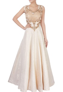 white-beige-sequin-embellished-gown