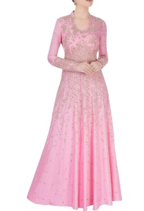 powder-pink-anarkali-dress-with-gold-embellishments