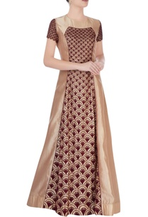 brown-and-gold-anarkali-dress