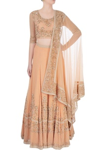 peach-metallic-embroidered-lehenga-set