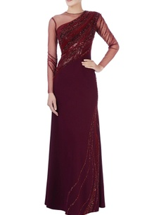 maroon-purple-bead-embroidered-gown