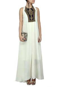 ivory-maxi-dress-with-copper-embellished-yoke