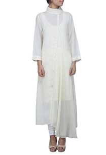 ivory-maxi-dress-with-copper-embellished-yoke