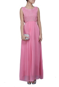 pink-sequin-embroidered-dress