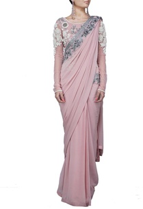 pale-pink-floral-embroidered-sari-gown