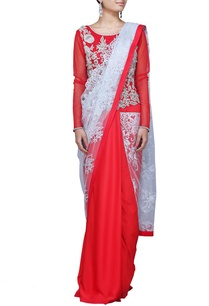 red-zardosi-embellished-lace-sari-gown