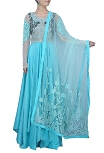 aqua-blue-and-silver-embellished-anarkali-set