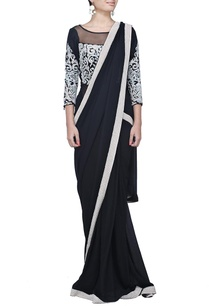 black-motif-embroidered-sari-gown